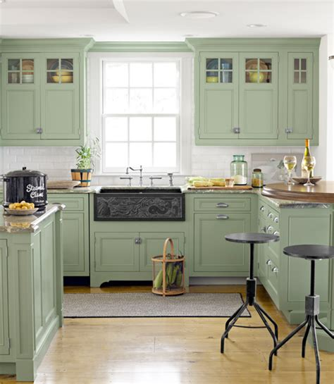 pale green kitchen cabinets how to decorate a beach house