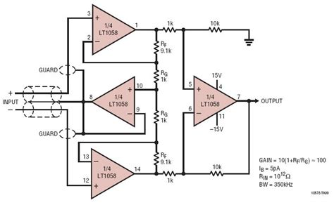 integrated circuit instrumentation lifier solutions instrumentation lifier with shield driver