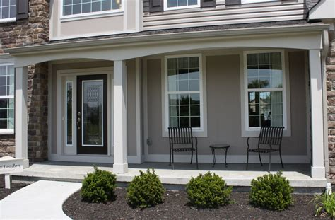 Front Porch Doors Exterior Contemporary Front Porch Design And Decoration Using Black Wrought Iron Front