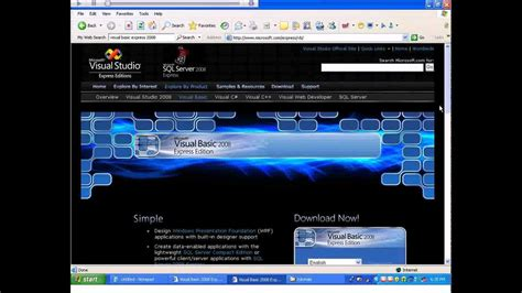 installing xp on windows server 2008 installing visual basic express 2008 windows xp youtube
