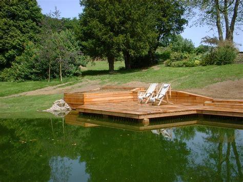 floating deck ponds backyard floating deck pond design