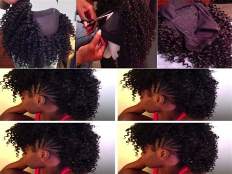 how to add weave to a mohawk 16 best homecoming weave options images on pinterest