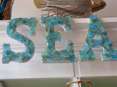 sea glass home decor beach decor seaglass letters quot sea quot seashells coastal