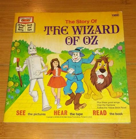wizard of oz picture book 1977 walt disney the wizard of oz book and and similar items