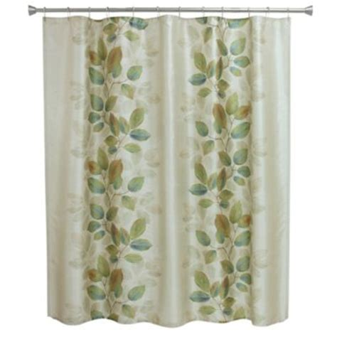 shower curtains green buy bacova indigo wildflower shower curtain in blue ivory