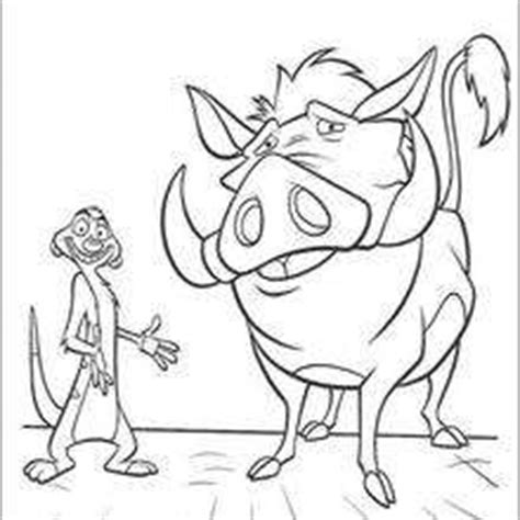 lion king timon and pumbaa coloring pages timon singing to simba coloring pages hellokids com