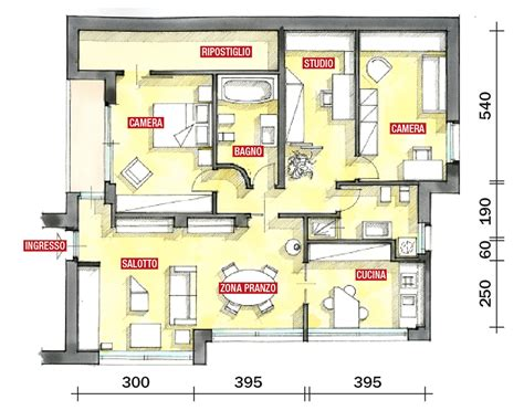 pianta casa 120 mq planimetria casa 120 mq