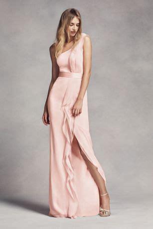 Longdress Sabrina Vera one shoulder bridesmaid dress with ruffles style vw360274 chiffon bridesmaid dresses