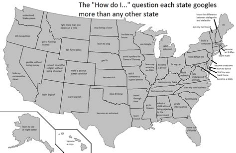 questions each state googles more than any other state the quot how do i quot question each u s state googles more