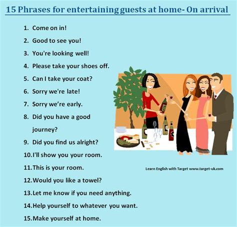 how to entertain guests at home forum learn english fluent land