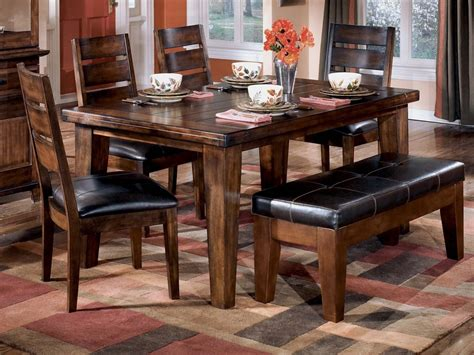 bench dining room table ashley furniture dining tables furniture other rect dining