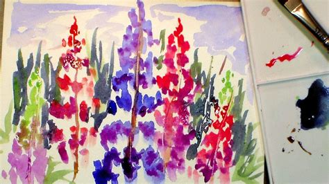 watercolor tutorial flowers youtube the gallery for gt easy flowers to paint for beginners