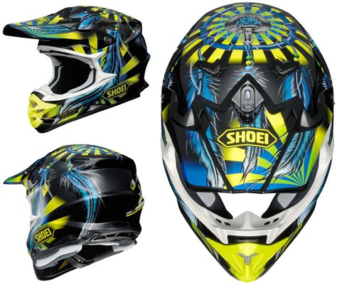 shoei motocross helmet shoei vfx w motocross mx helmet grant 2 tc 3 yellow