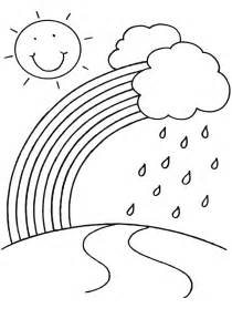 rainbow coloring pages childrens printable free