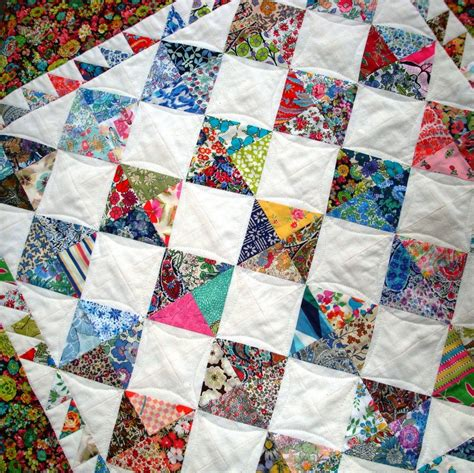Patchwork Coverlet - patchwork quilt pattern perfectly charming ideal for