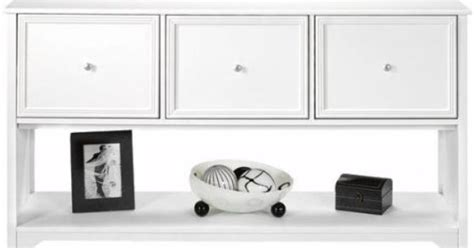 Oxford White Kitchen Cabinets Oxford 55 Inch White Three Drawer File Cabinet And Console Table 3 Drwr Console White Home