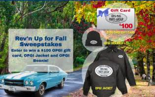Fall Sweepstakes - bangshift com rev n for fall sweepstakes