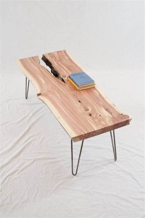 cedar log bench or coffee table by jamesrobinson on etsy 100 ideas to try about rogue woodwerx furniture ideas furniture and wood furniture