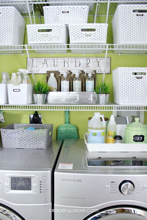 laundry room organizer iheart organizing reader space green and graceful