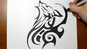 How to draw a tribal wolf tattoo design sketch 2 youtube