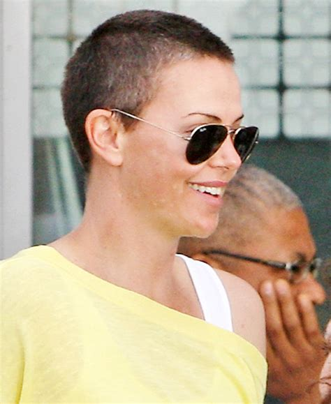 celebrities with big heads and short hair pictures female celebrities who shaved their heads