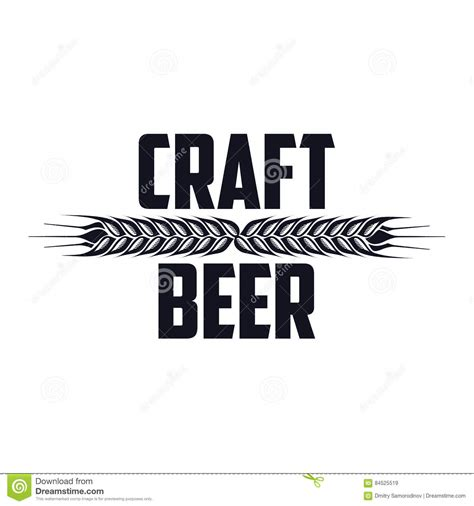 craft beer black white sticker logo stock vector 393749374 craft beer logo stock illustration image 84525519