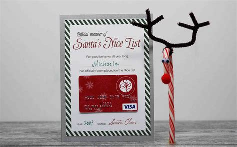 Can Visa Gift Cards Be Used On Ebay - free printable santa s nice list certificate gcg