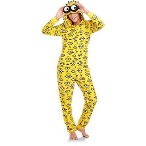 0210 Lv Piyama One 1 juniors minion one hooded pajamas from walmart