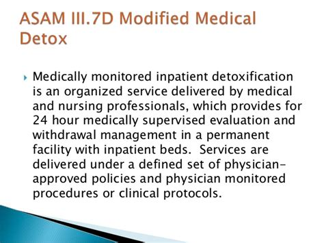Medically Supported Detox by Principles Of Detoxification Revised 4 2010