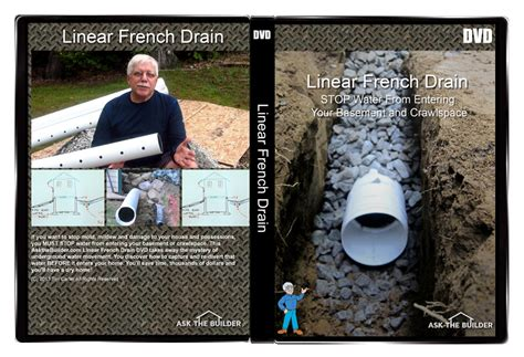 House Builder Tool linear french drain video series dvd ask the builderask
