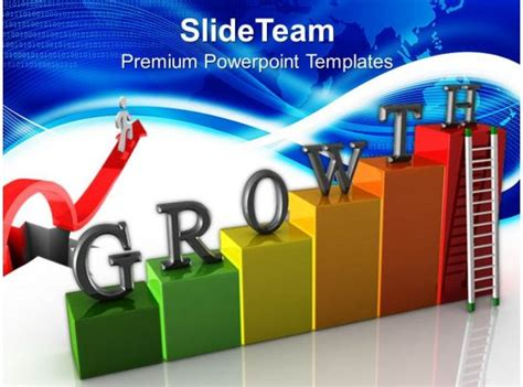 growth graphs  business powerpoint templates stairs success chart  powerpoint