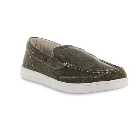 surf loafers island surf co s vineyard canvas boat shoe olive