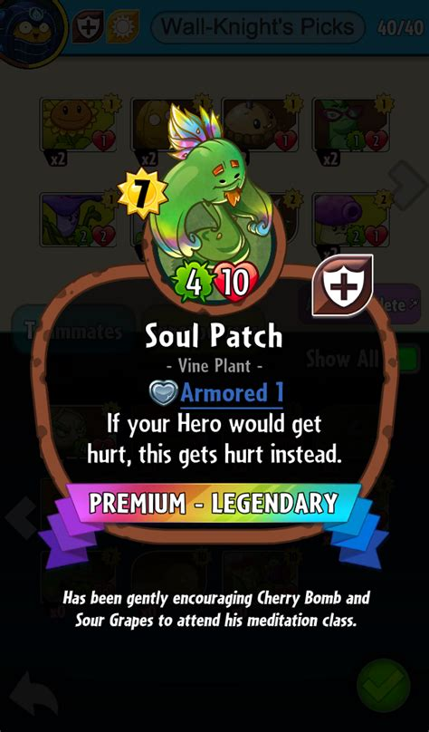 pvz heroes card template image soulpatchdesc png plants vs zombies wiki