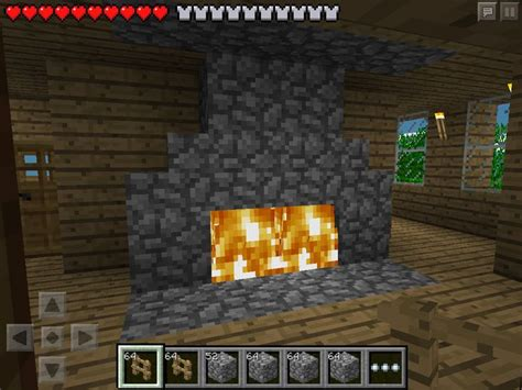 How To Make A Fireplace In Minecraft Pe by W2 Fireplace Minecraft Pe Minecraft