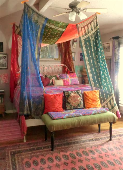 Boho Bed Canopy A Gallery Of Bohemian Bedrooms Canopies Boho And Quilt