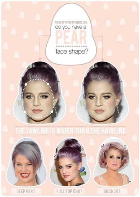 hairstyles for pear shaped faces how do you know if your face is shaped like a pear face