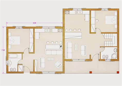 Pianta Casa Bifamiliare by Progetti Di In Legno Bifamiliari