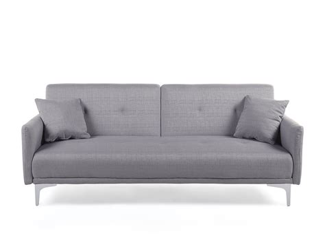 Schlaf Futon by Upholstered Sofa Bed Fabric Settee Grey
