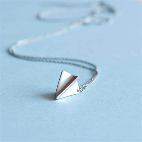 silver origami paper silver origami paper airplane charm necklace harry styles
