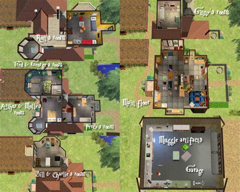 the burrow floor plan mod the sims the weasley burrow 2 versions original