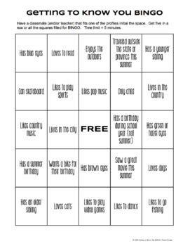 icebreaker bingo card template free bingo icebreaker beginning of year includes blank