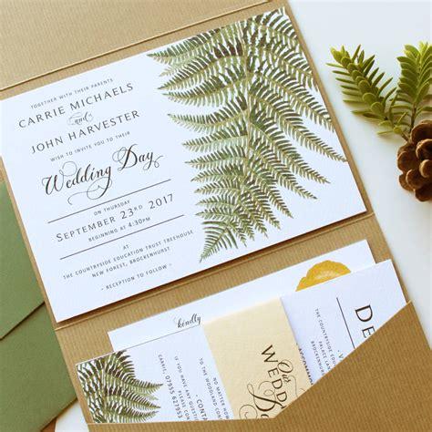 wedding invitation st suite woodland botanical wedding invitation suite by vanilla