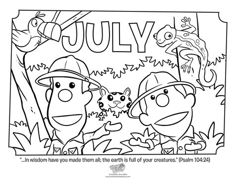july month coloring pages printable coloring pages