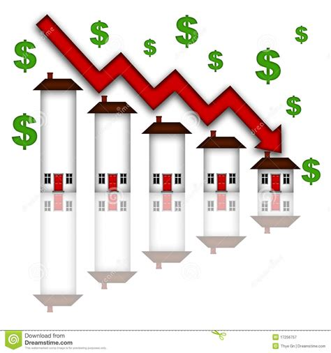 when will house prices go down real estate home values going down graph royalty free stock photography image 17256757