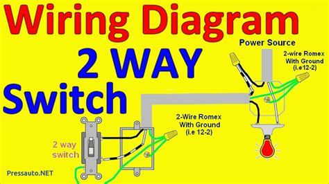 how to wire a 2 way switch diagram 2 way light switch wiring diagrams pressauto net