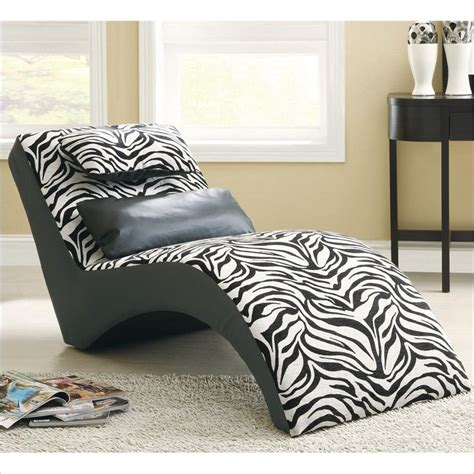 animal print chairs living room accent seating modern zebra print furniture chaise 550071