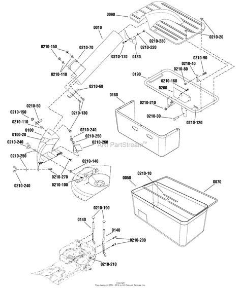 catcher diagram snapper 7600199 catcher single bag parts diagram for