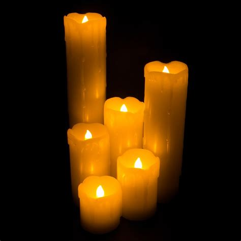 candele led led light flickering flameless candles with realistic faux