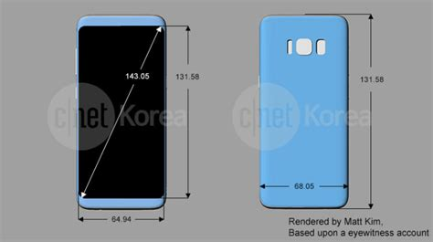 Samsung Galaxy S10 Talk by Samsung Galaxy S8 And S8 Plus Design Dimensions Features Leak In South Korea