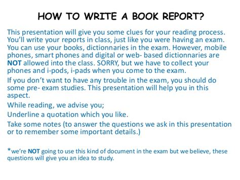 How Write A Book Report by How To Write A Book Report